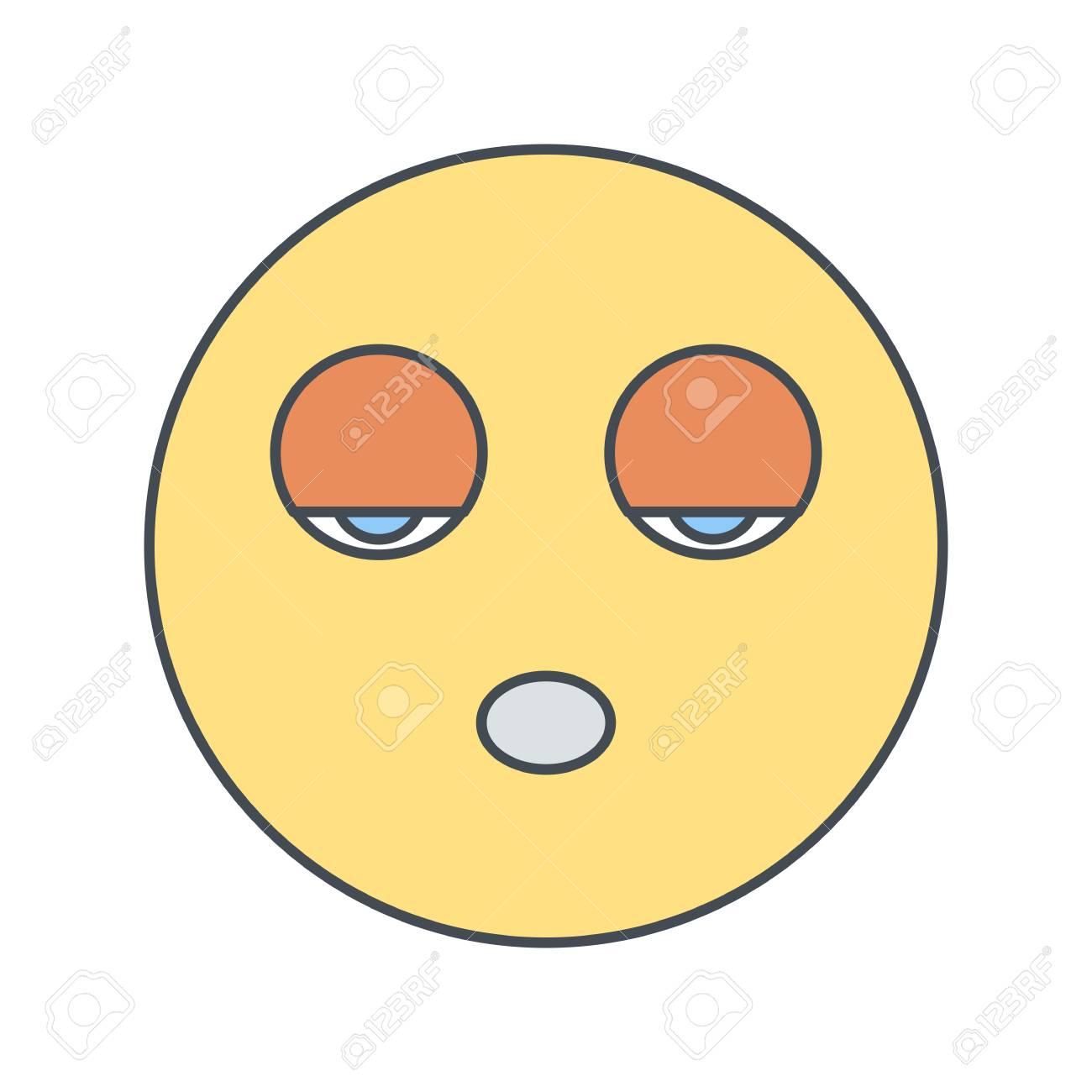 Sleep Emoji Vector Icon Sign Icon Vector Illustration For Personal