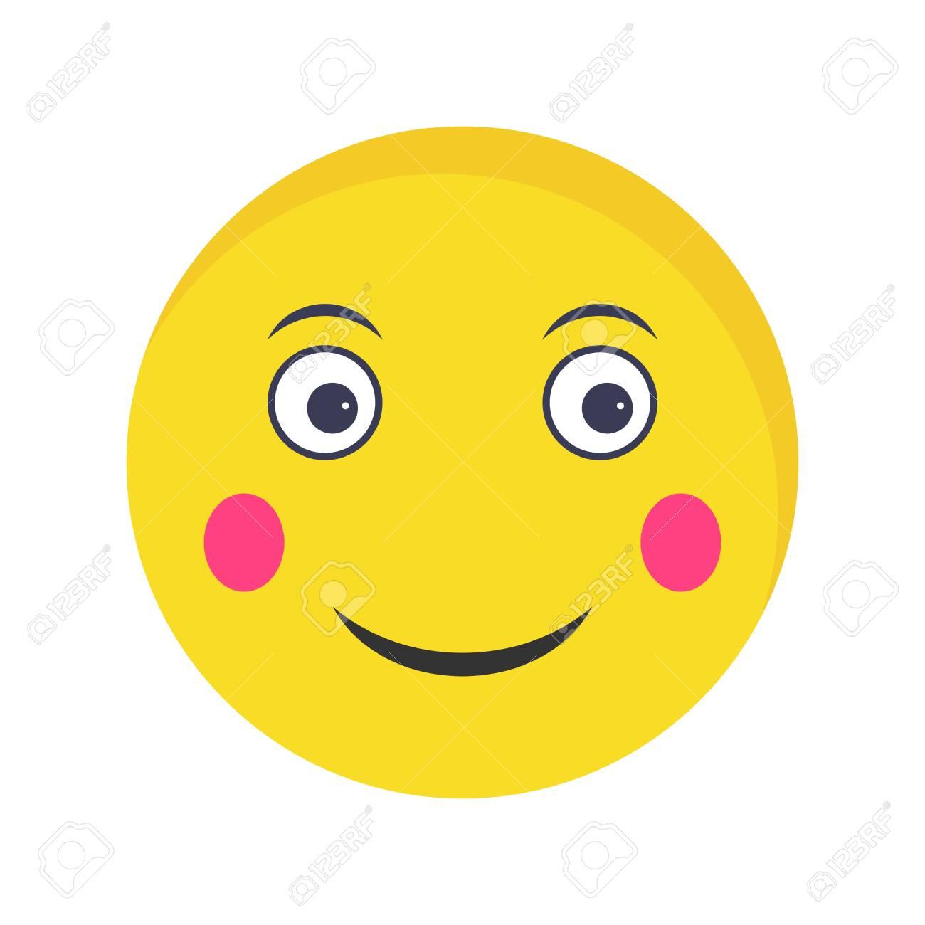 Blush Emoji Vector Icon Sign Icon Vector Illustration For Personal