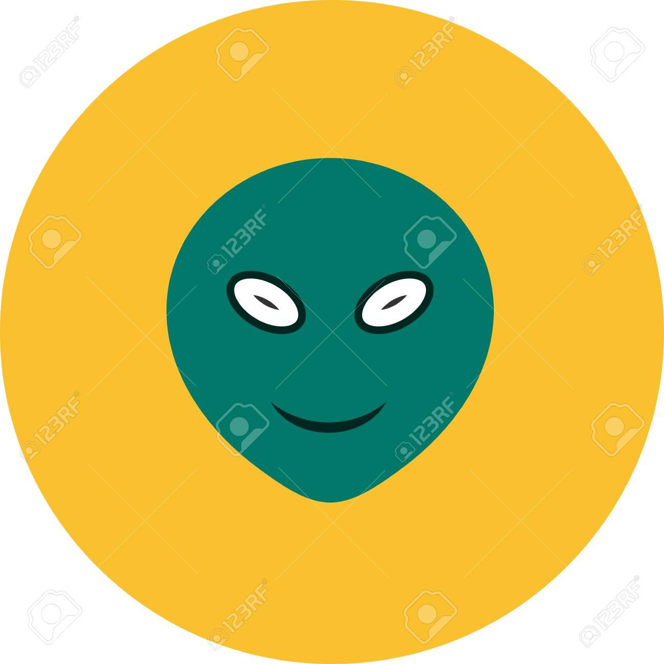 Vector Alien Emoji Icon Royalty Free Cliparts Vectors And Stock