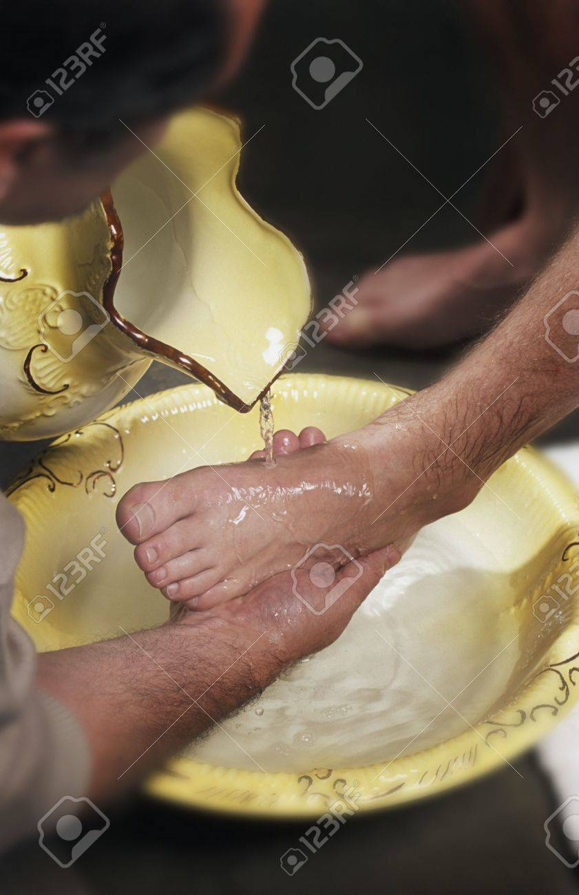 Foot washing Stock Photo - 6212958