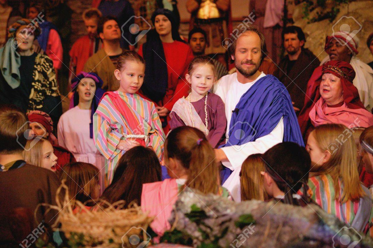 jesus with children stock photo picture and royalty free image