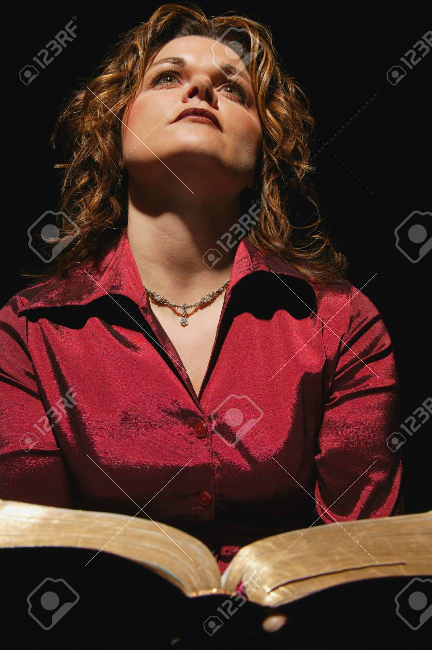 Woman holding Bible Stock Photo - 6213359