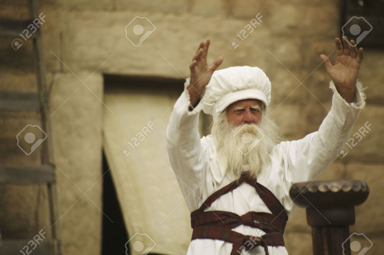 Priest with arms outstretched Stock Photo - 5628976