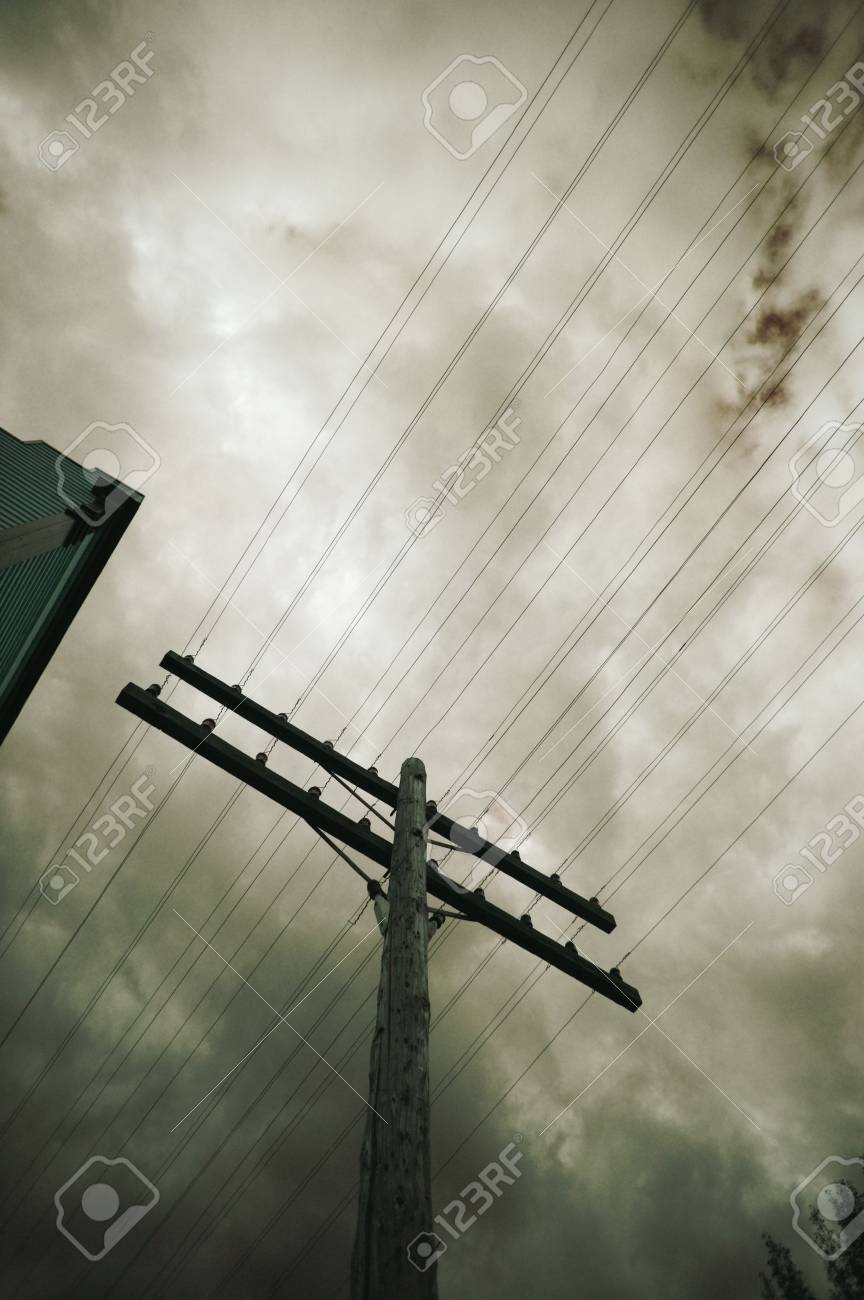 Telegraph Wires Stock Photo, Picture And Royalty Free Image. Image ...