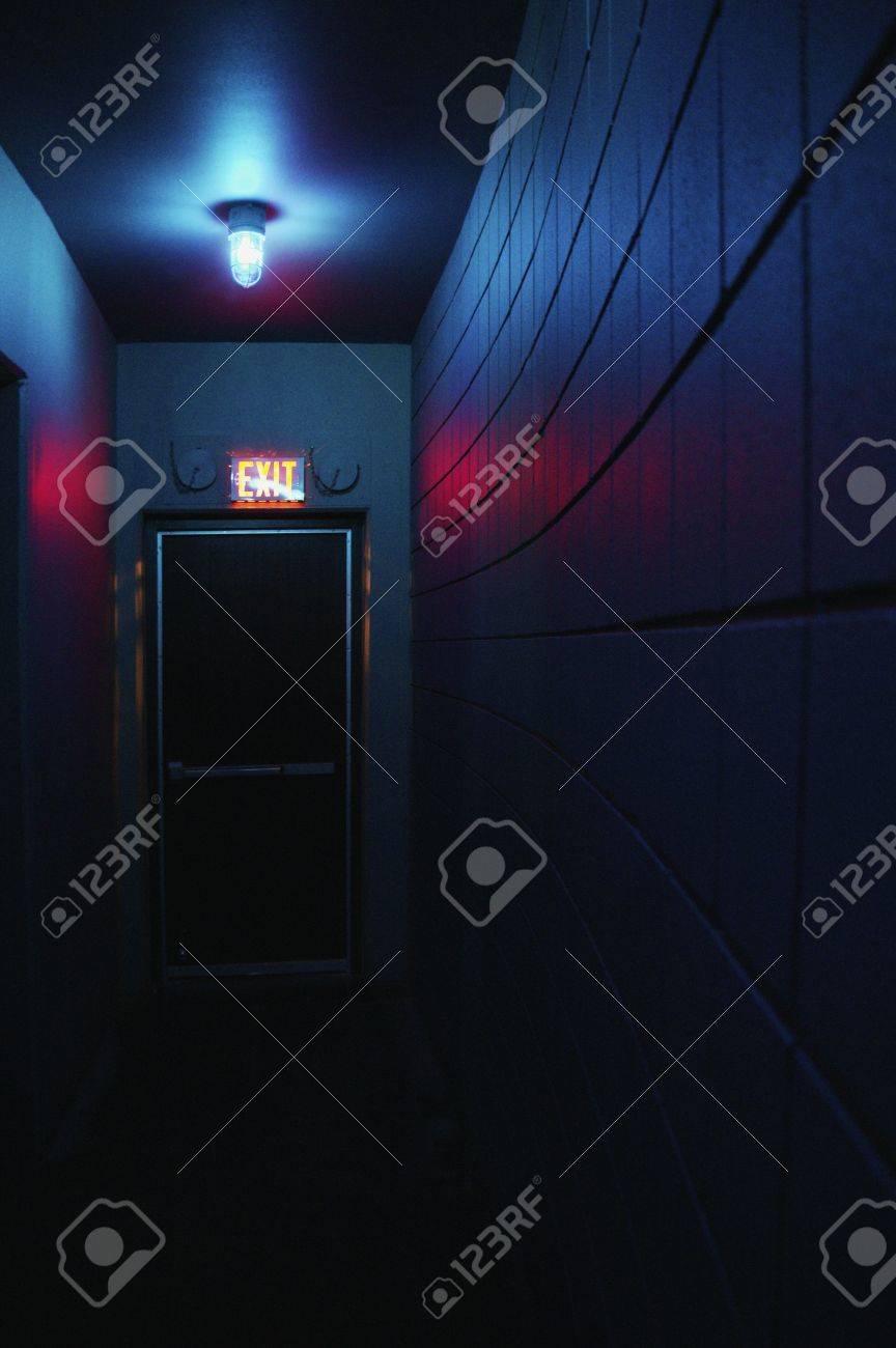 Dark hallway and exit Stock Photo - 6217088