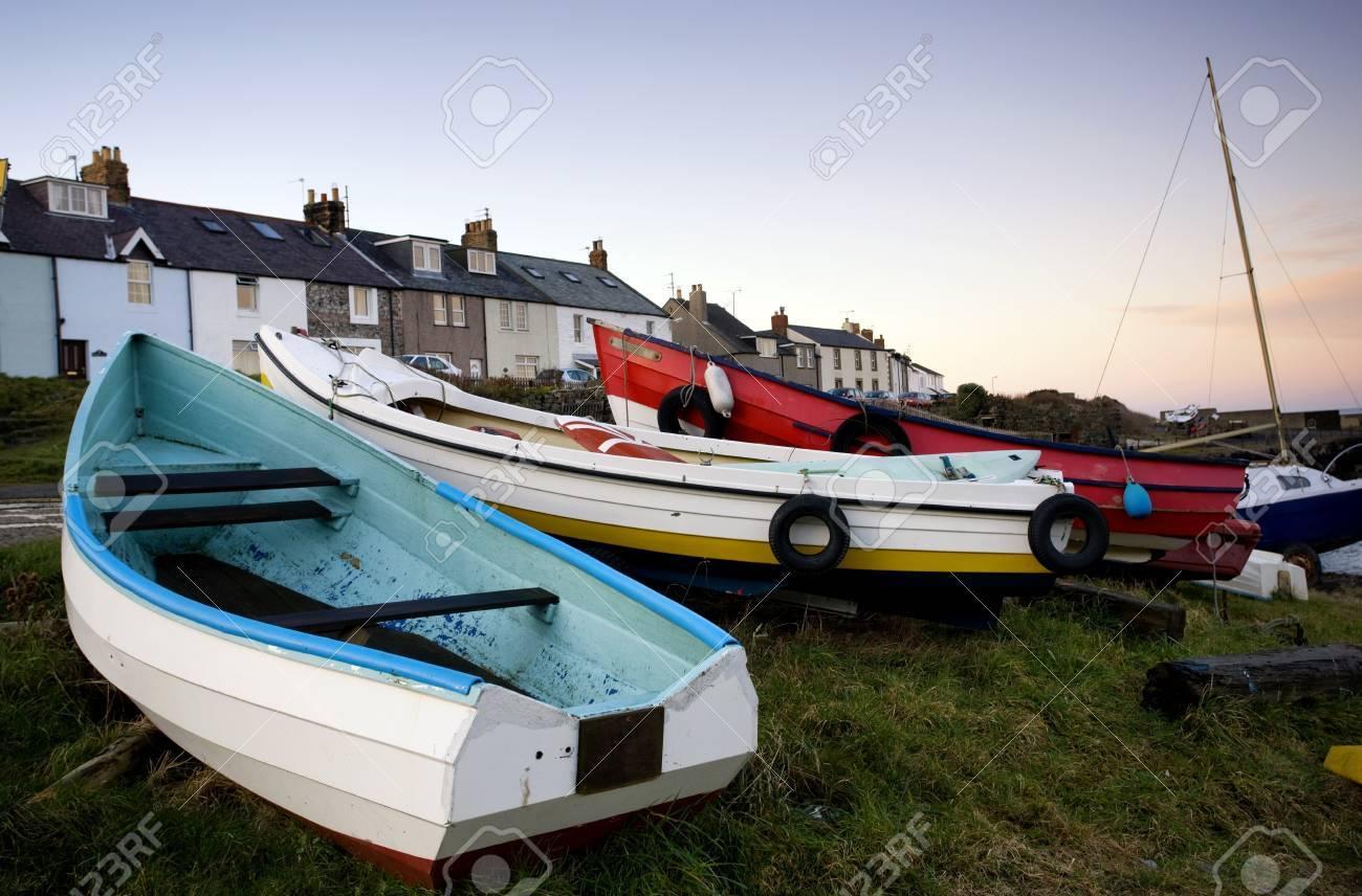 Boats, Craster, Northumberland, England Stock Photo - 7196077