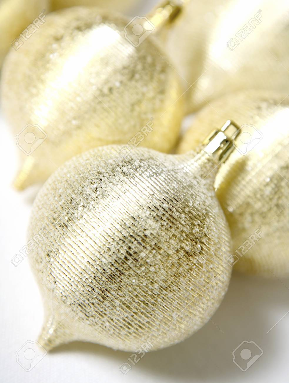 Gold Christmas ornaments Stock Photo - 7198846