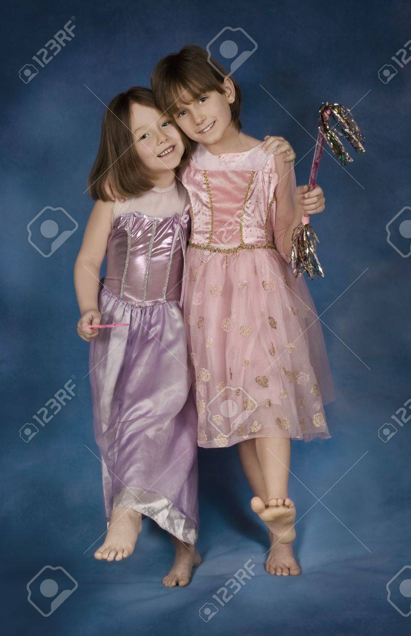 youngster girls Portrait of young girls in fancy dresses Stock Photo - 7190517