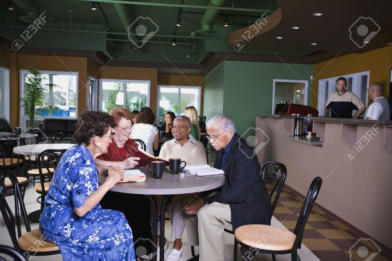 Seniors in restaurant Stock Photo - 7193703