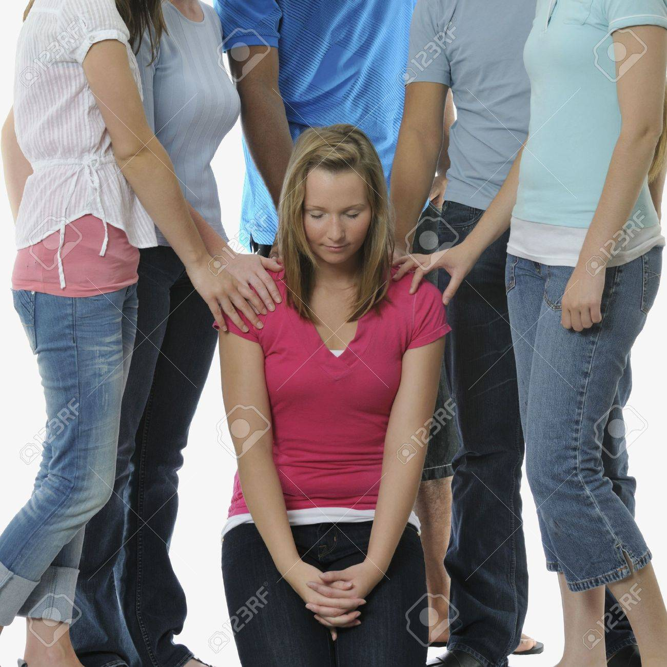 A diverse group of young adult Christians praying Stock Photo - 7193031