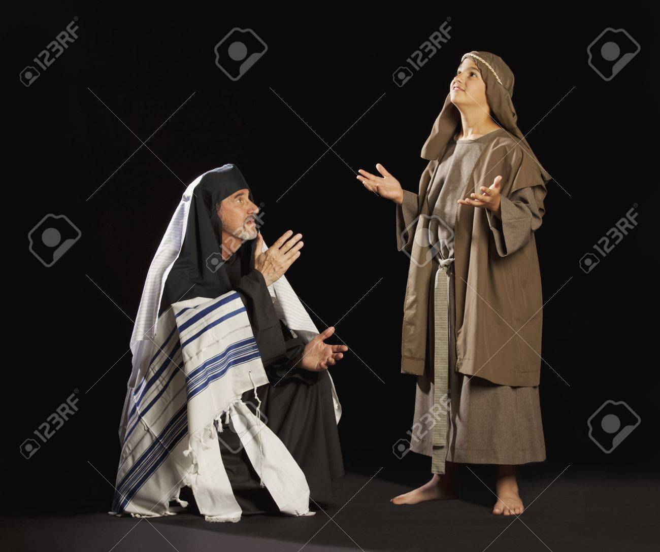 young jesus and a high priest Stock Photo - 7190041