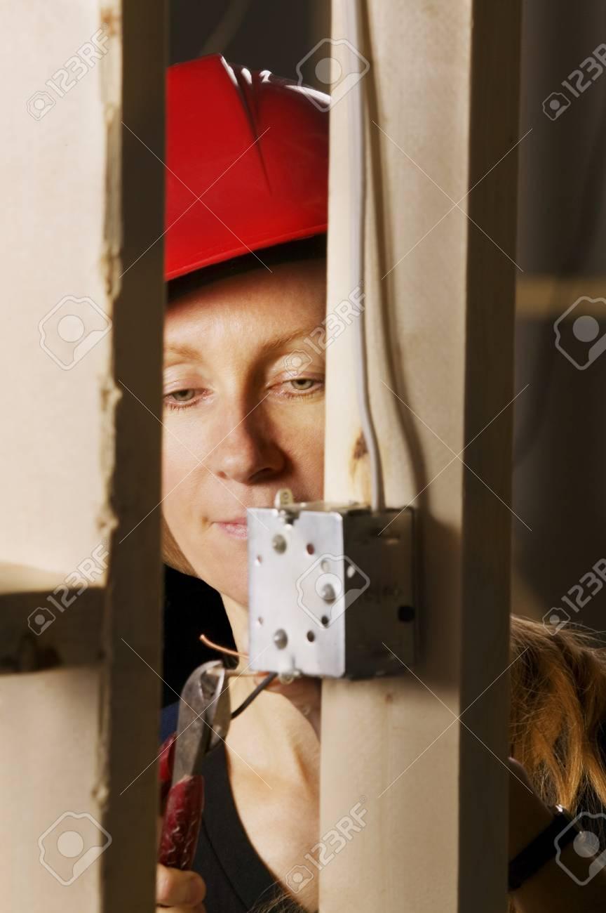 Female electrician Stock Photo - 7196154