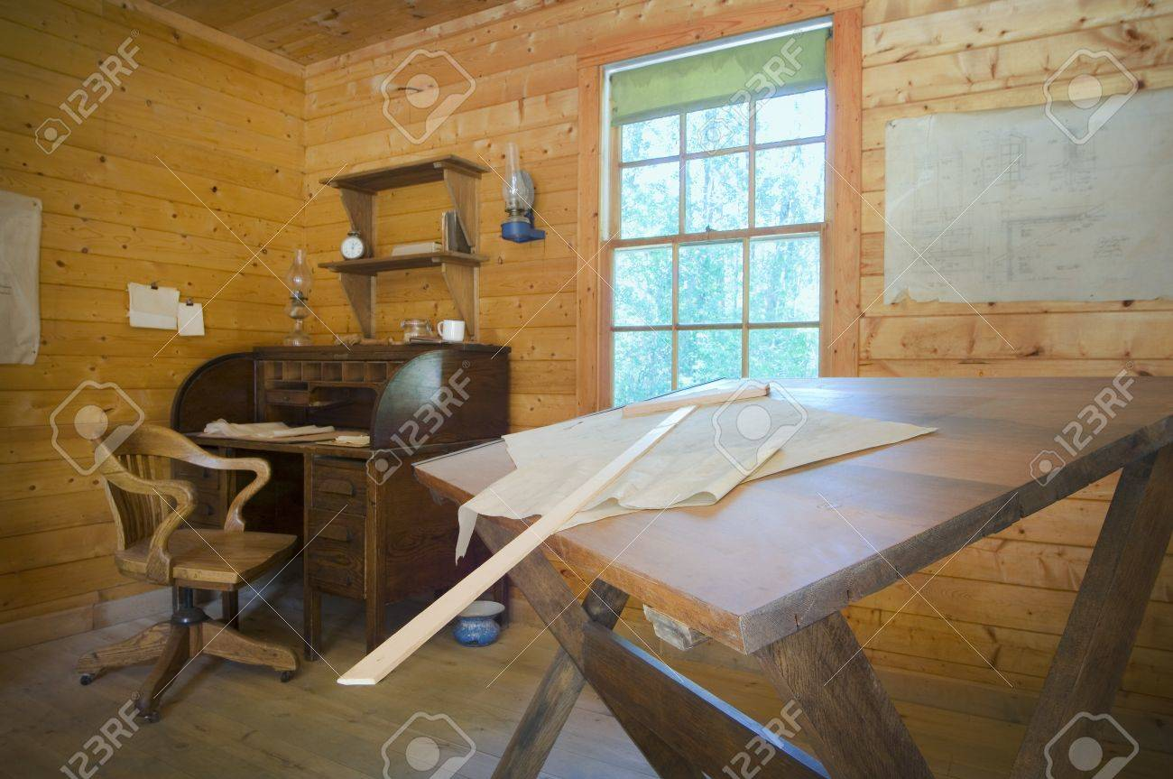 Architectural design and drafting office in Fort Edmonton, Alberta Stock Photo - 7196878
