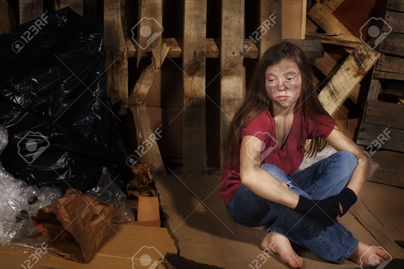 Pauvre fille  Banque d'images - 7196882