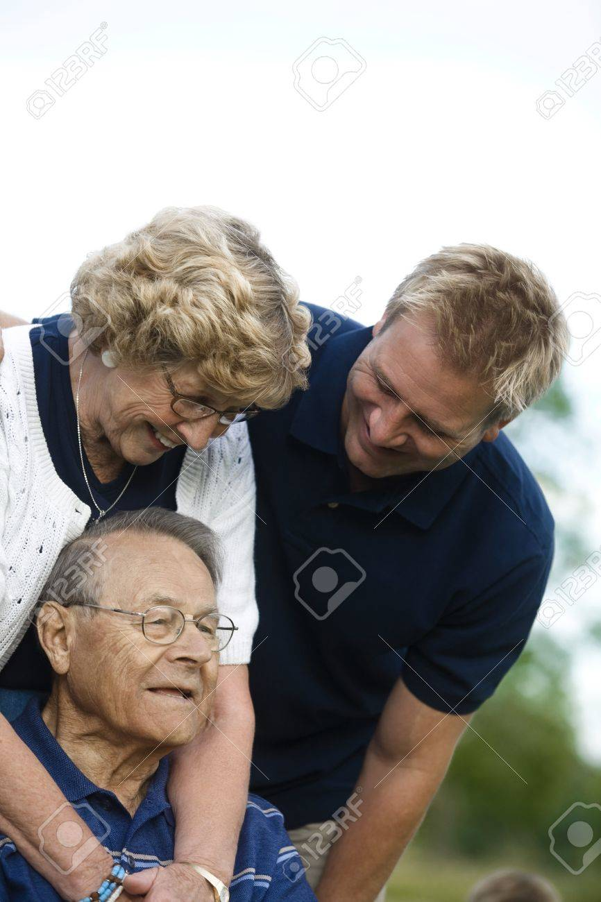 Front view of a happy family Stock Photo - 7206570
