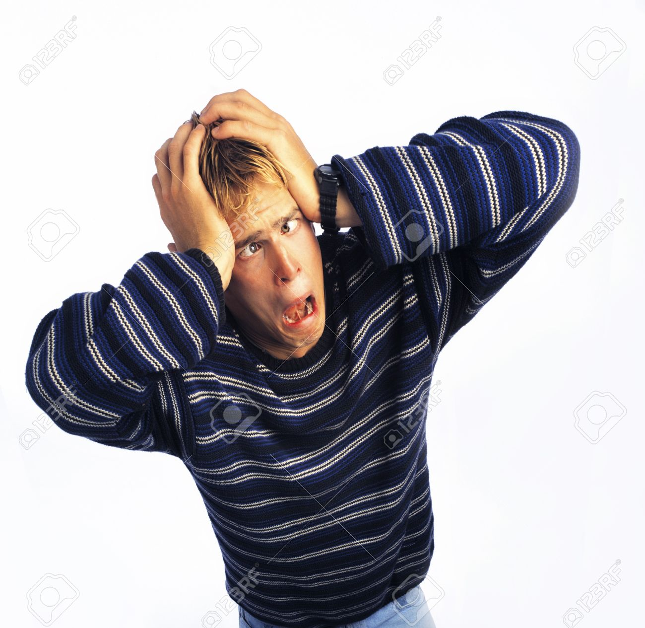 Man looking stressed Stock Photo - 7206831