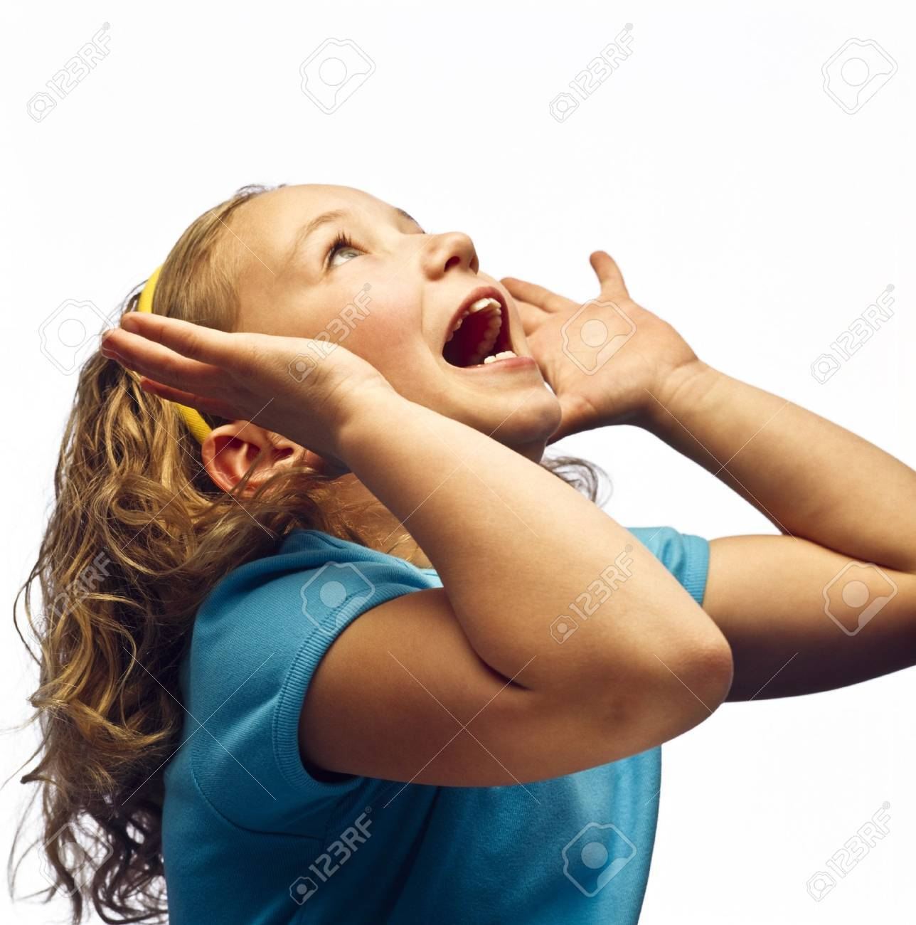 A girl shouting Stock Photo - 7208716