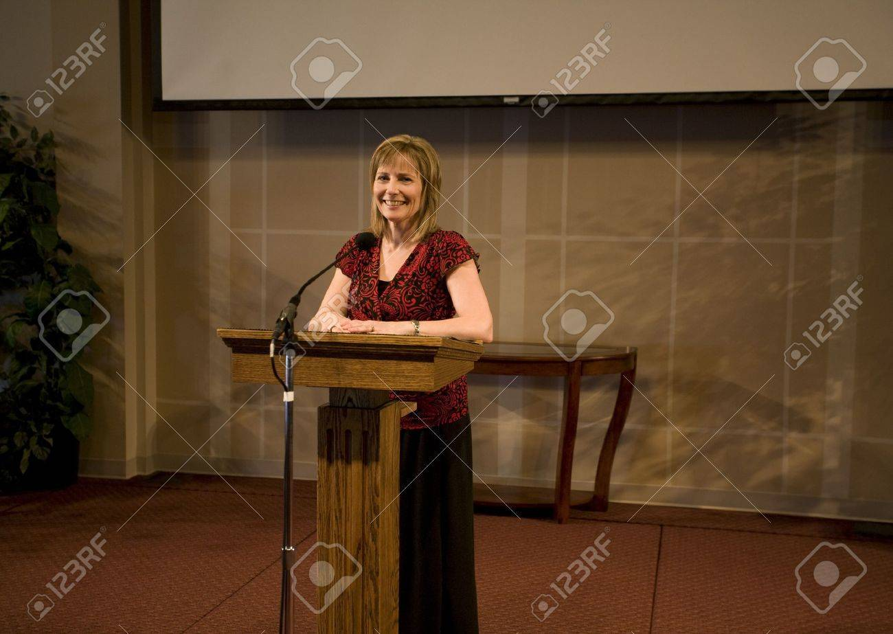 A woman giving a speech Stock Photo - 7208135