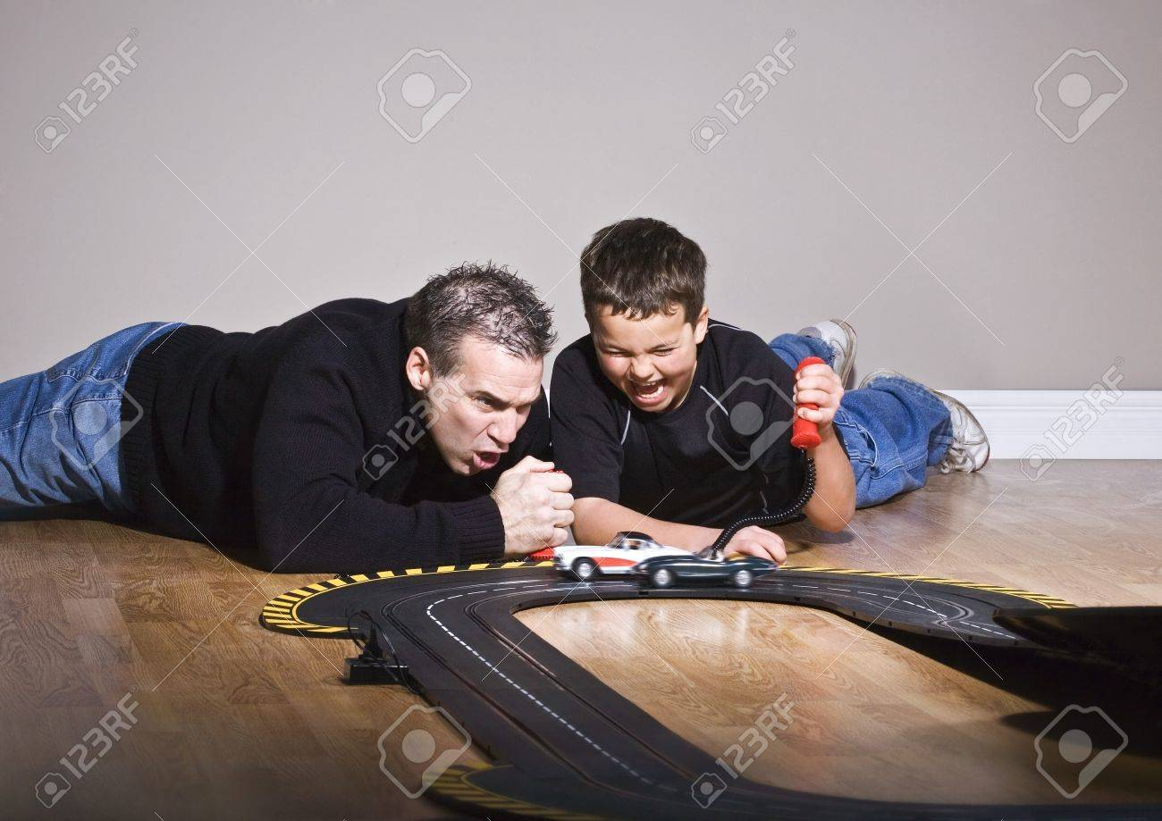 Father and son playing together Stock Photo - 7208948