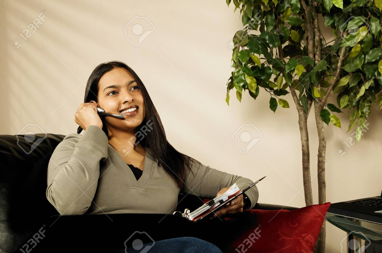 A woman working at home Stock Photo - 7208837