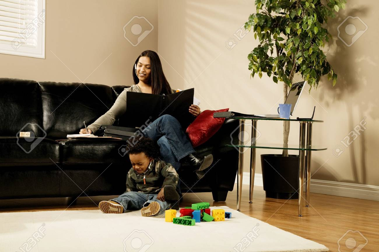 A woman working at home Stock Photo - 7208395