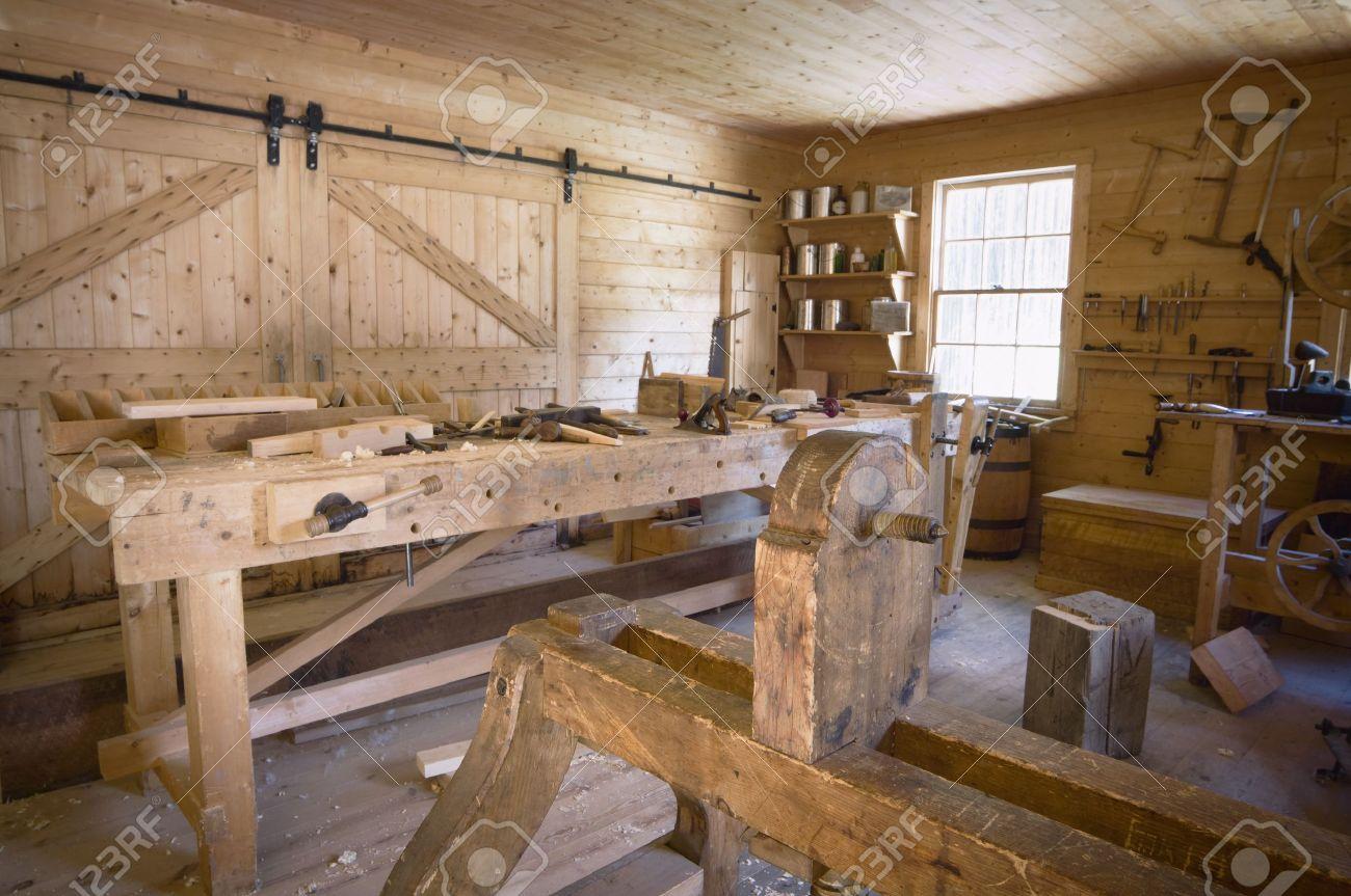 Fort Edmonton Alberta Canada Old Woodworking Workshop