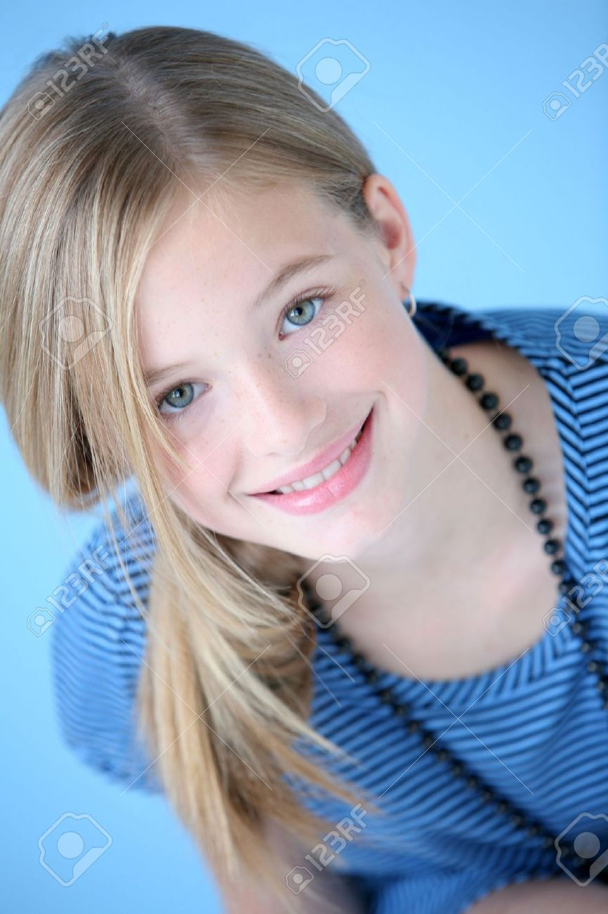 Girl in blue dress Stock Photo - 7205848