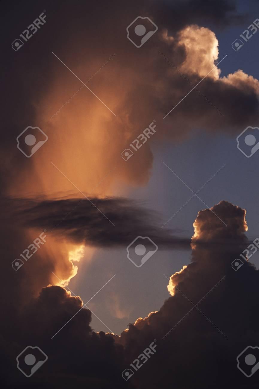 Sunbeams through clouds Stock Photo - 7551675