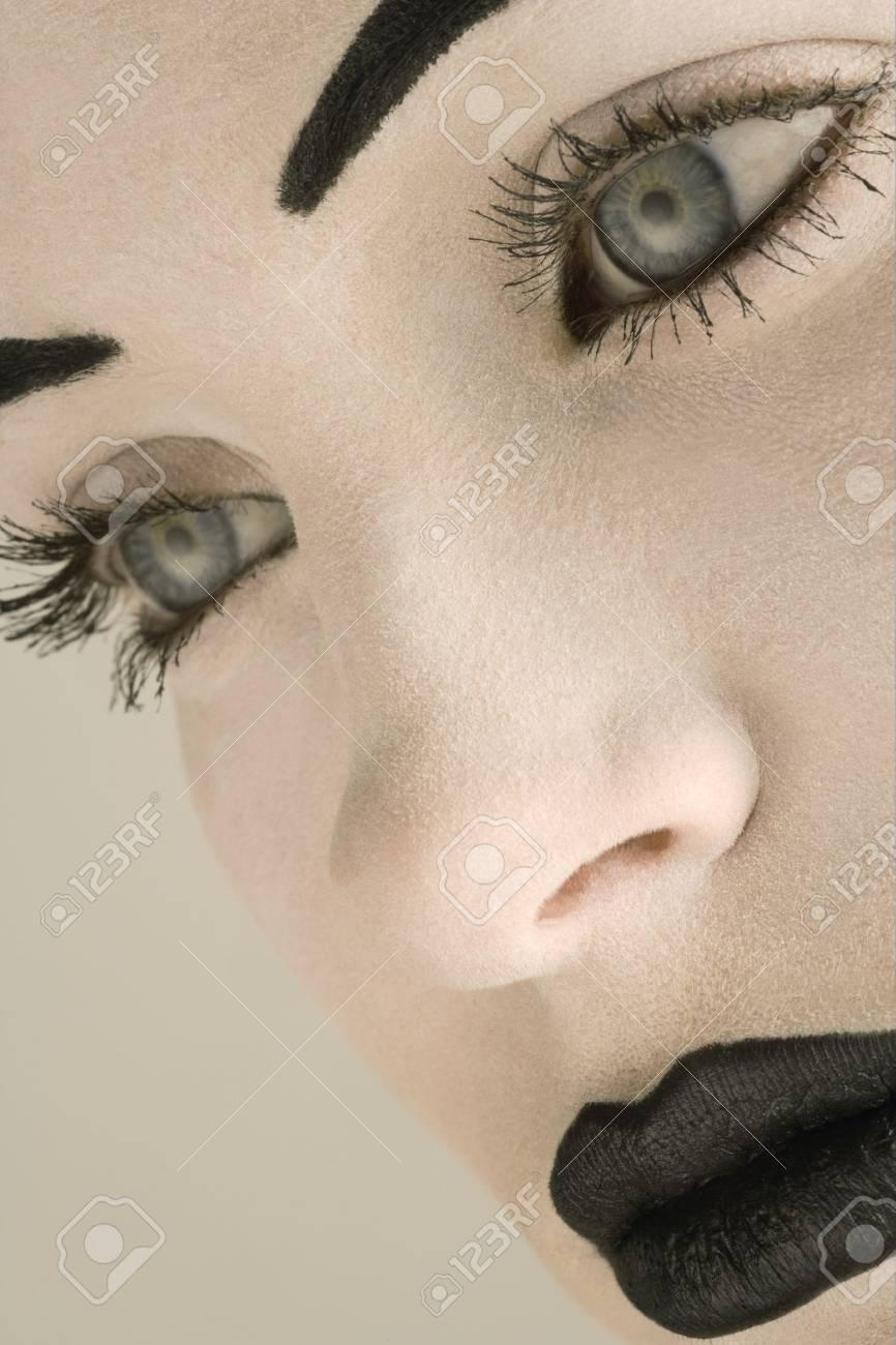 Closeup of a woman's face Stock Photo - 7551570