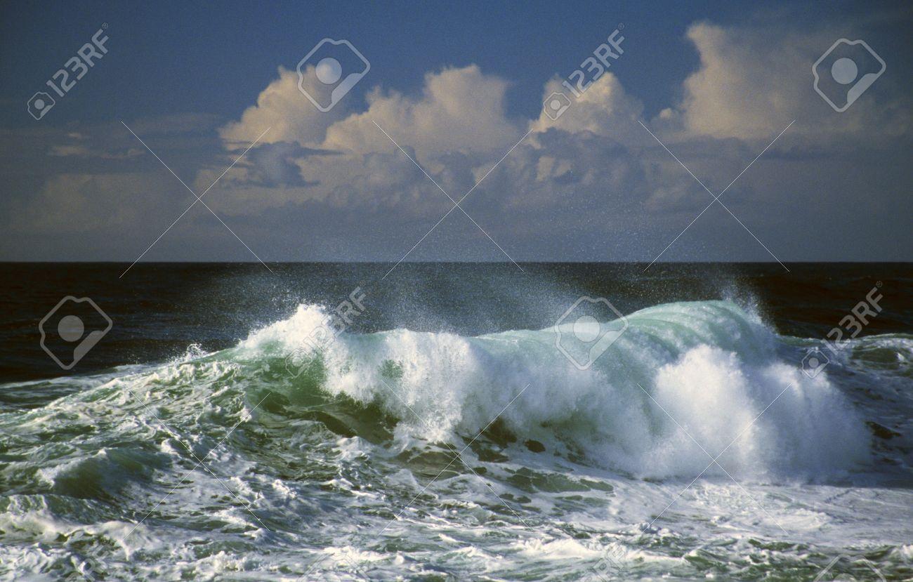 Wave crashing, ocean spray, Cape Kiwanda Stock Photo - 7551842