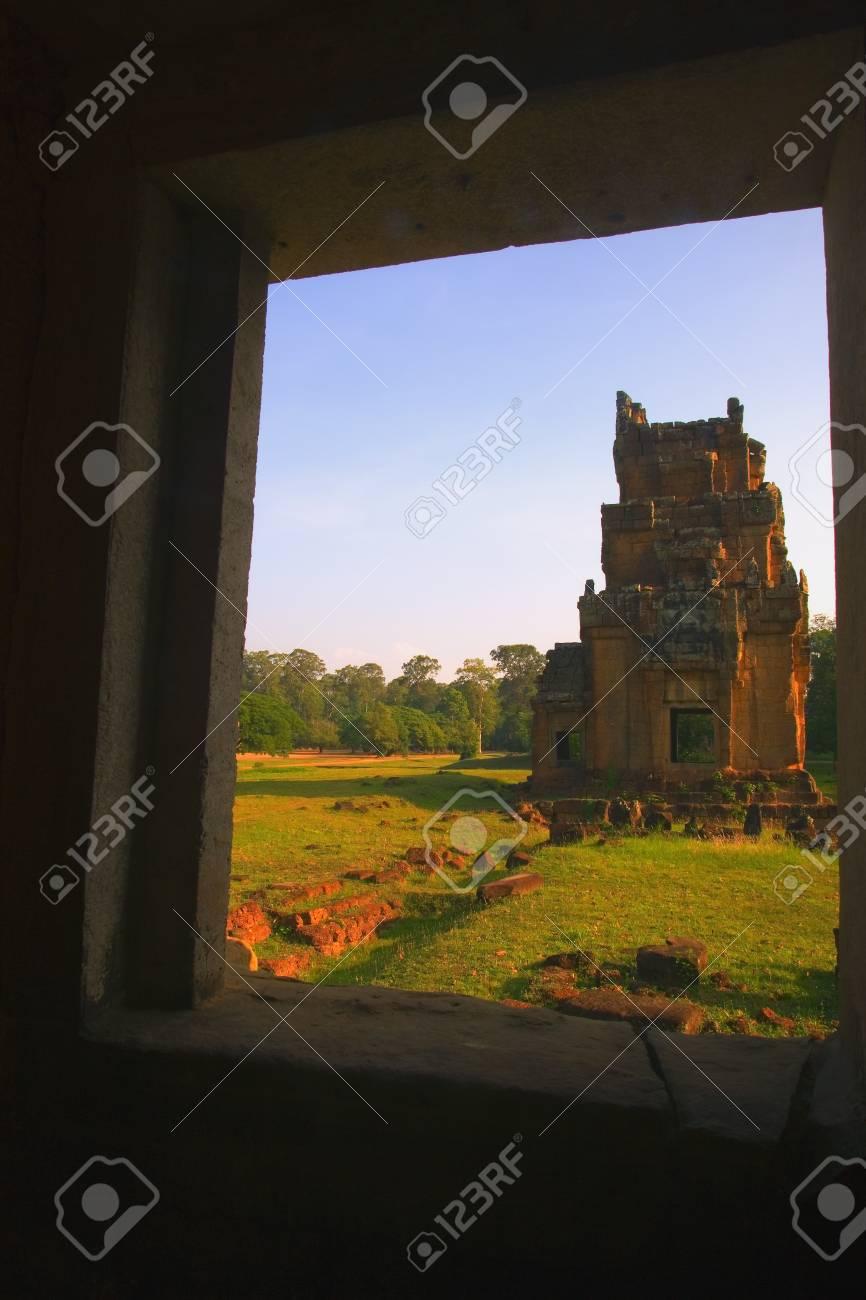 Terrace of the Elephants, Angkor, Cambodia Stock Photo - 7551647