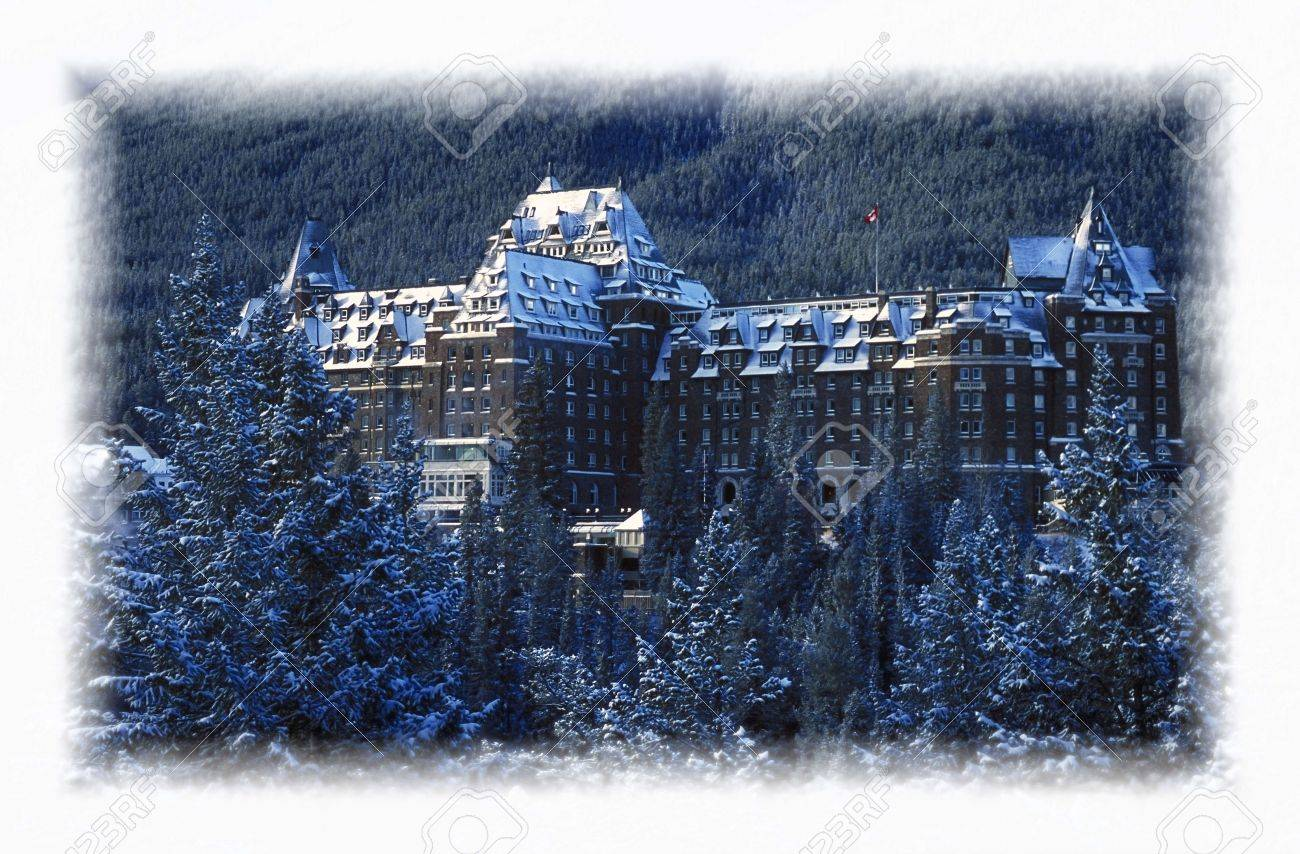 Banff Springs Hotel Banff National Park Alberta Canada Stock Photo - 7551639