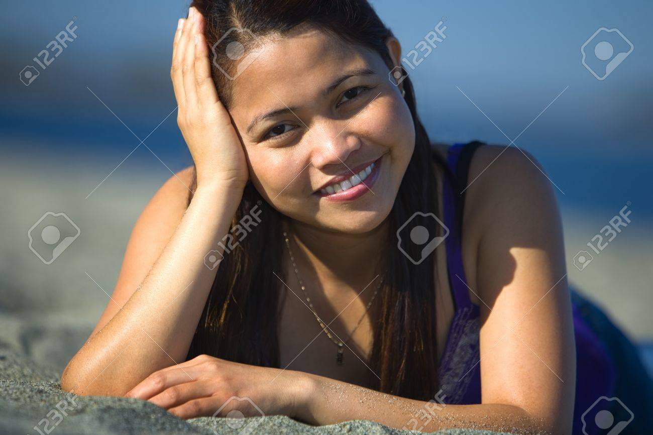 Woman at the beach Stock Photo - 7559287
