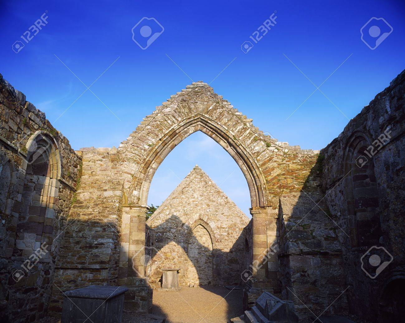 Ancient Abbey, Ardmore, Co Waterford, 12th Century, Ireland Stock Photo - 7559456