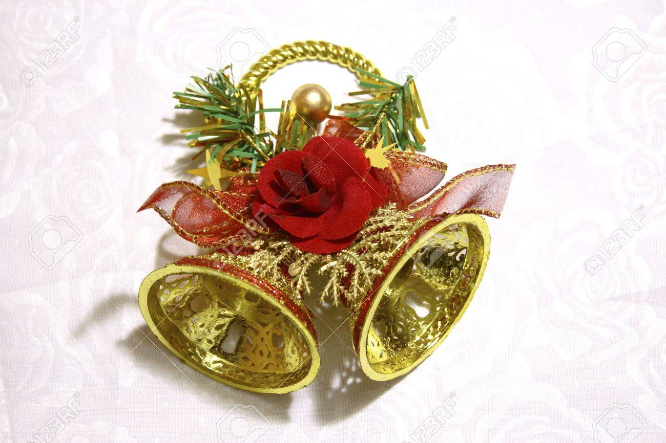 Bell christmas ornament - Christmas Bell Ornament Stock Photo 7559361