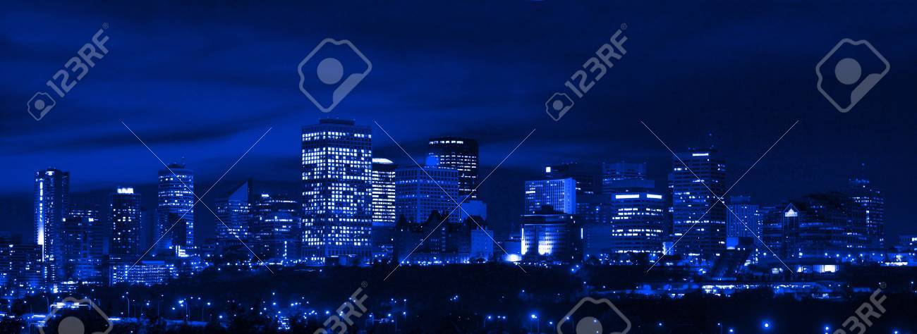 Edmonton Skyline Stock Photo - 8243270