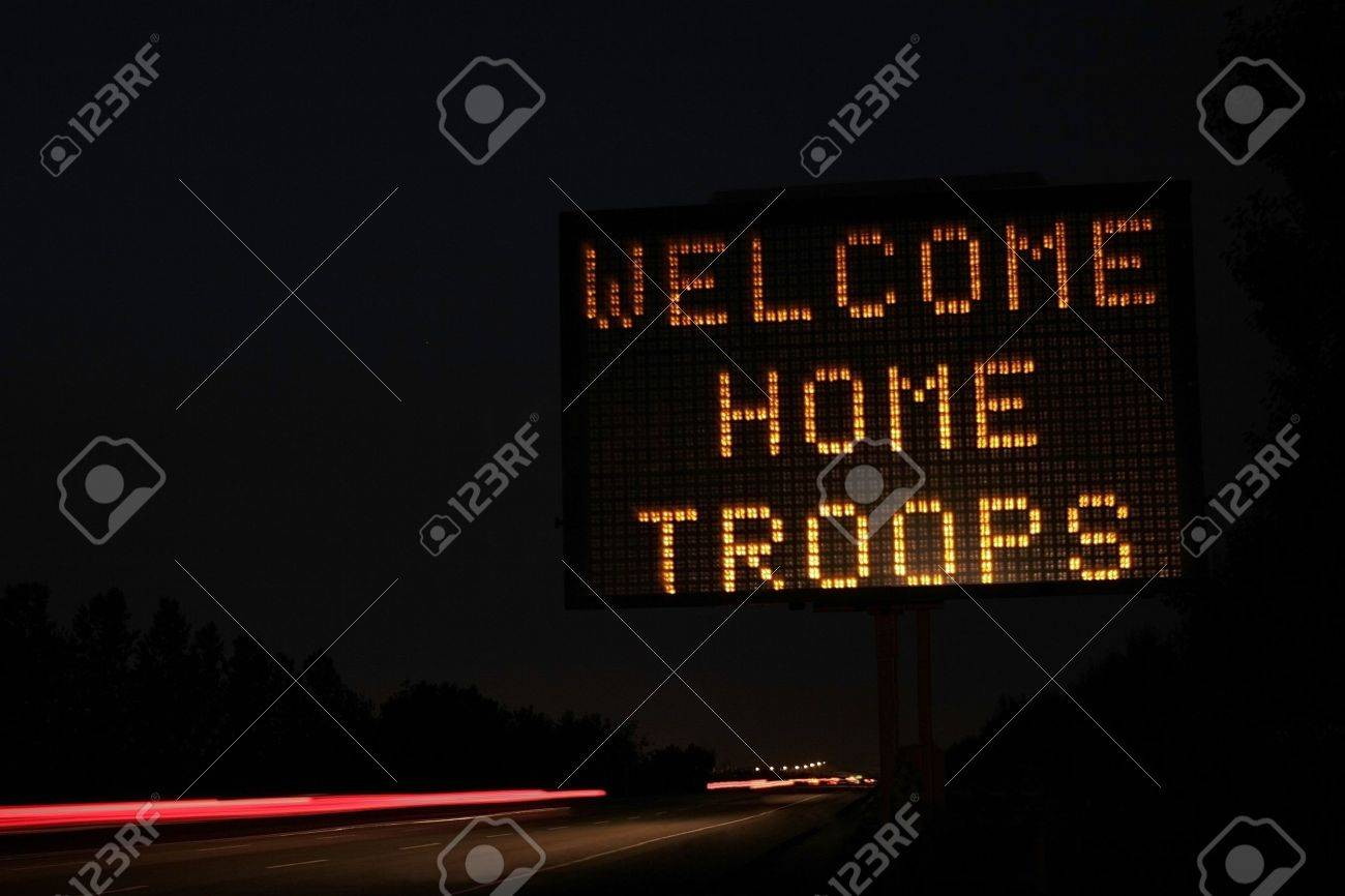Welcome home sign Stock Photo - 8241848