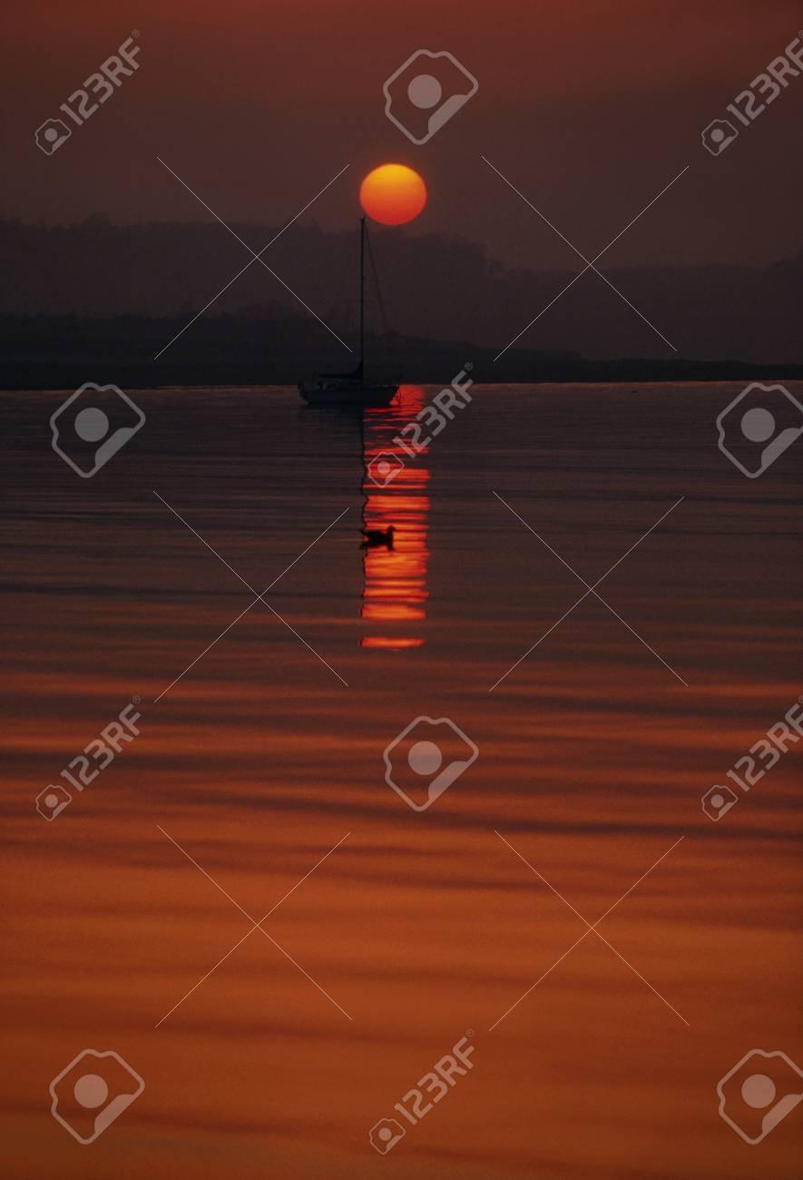 Sunset and Sea, Skerries, County Dublin, Ireland Stock Photo - 8242140