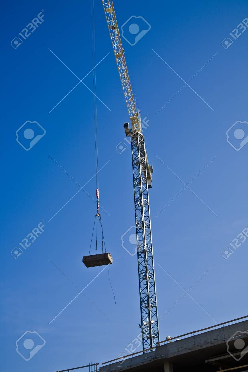 Crane working on a construction site Stock Photo - 8242341