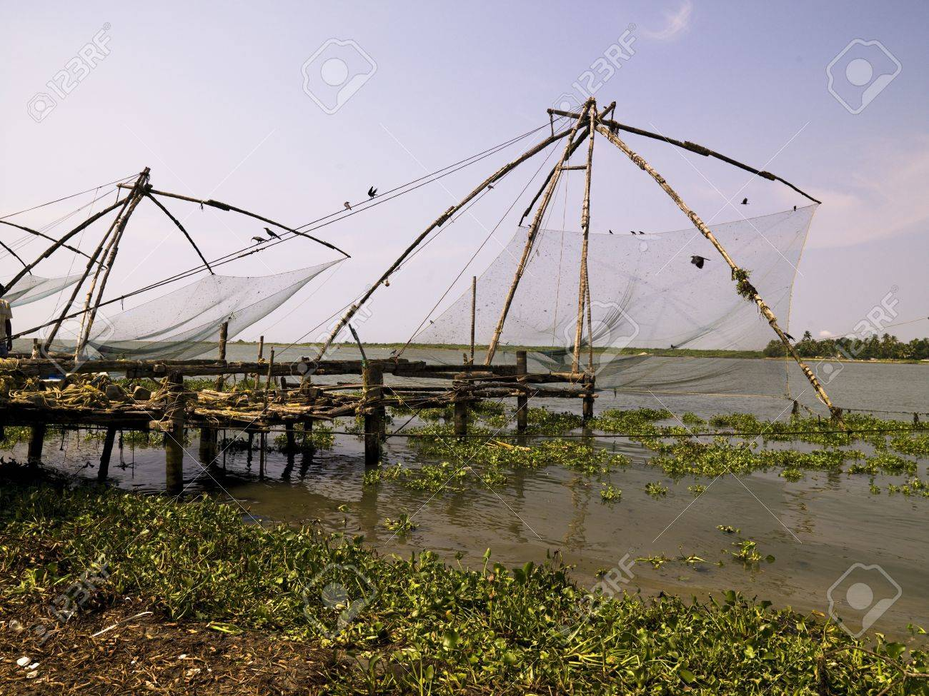 Chinese fishing nets, Cochin, India Stock Photo - 8243985