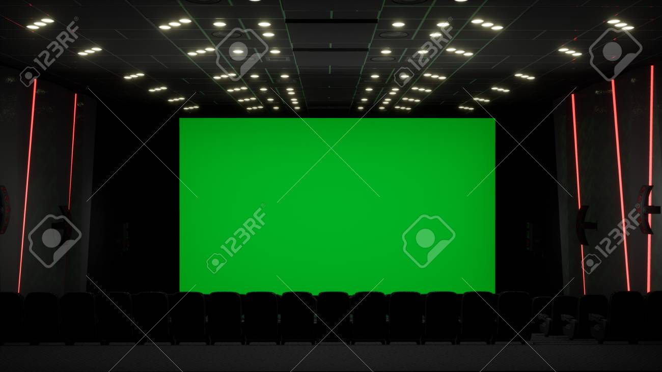 Cinema Interior Of Movie Theatre With Blank Movie Theater Screen Stock Photo Picture And Royalty Free Image Image 120535253
