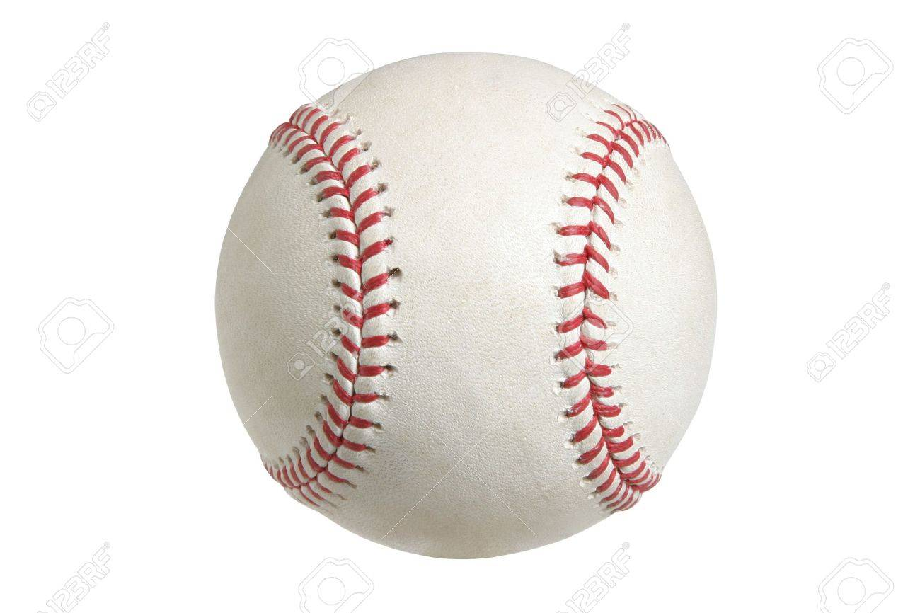 A major league baseball isolated on a white background Stock Photo - 15941347
