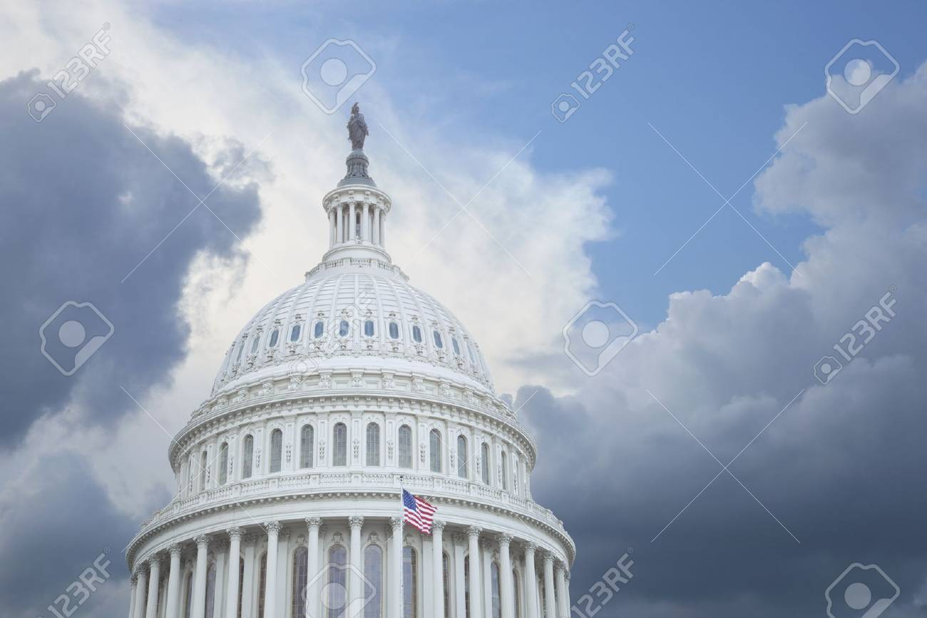 US Capitol dome under stormy skies Stock Photo - 15941408
