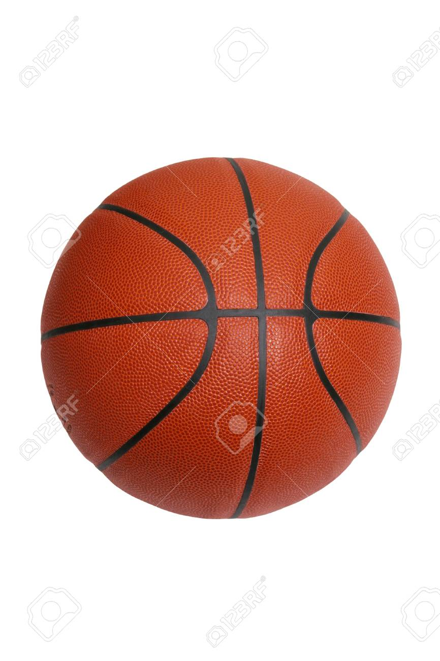 An official size basketball isolated on a white background Stock Photo - 15941396