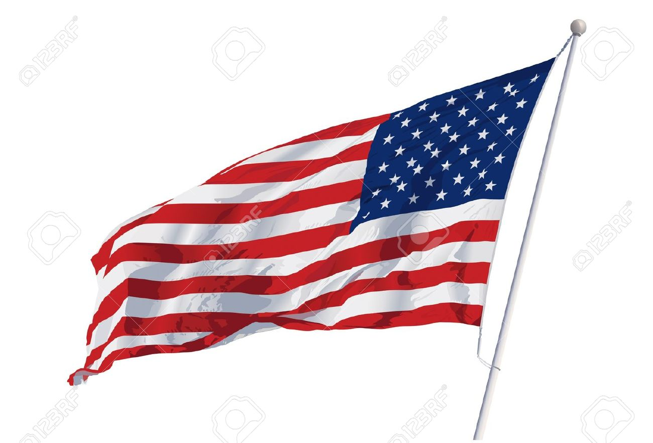 a vector illustration of an american flag waving in the wind royalty rh 123rf com waving american flag vector free download Waving American Flag White Background
