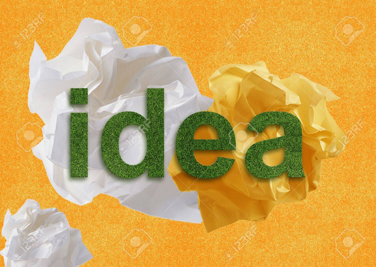 Creative Thinking With Brainstorming. Stock Photo - 10992216