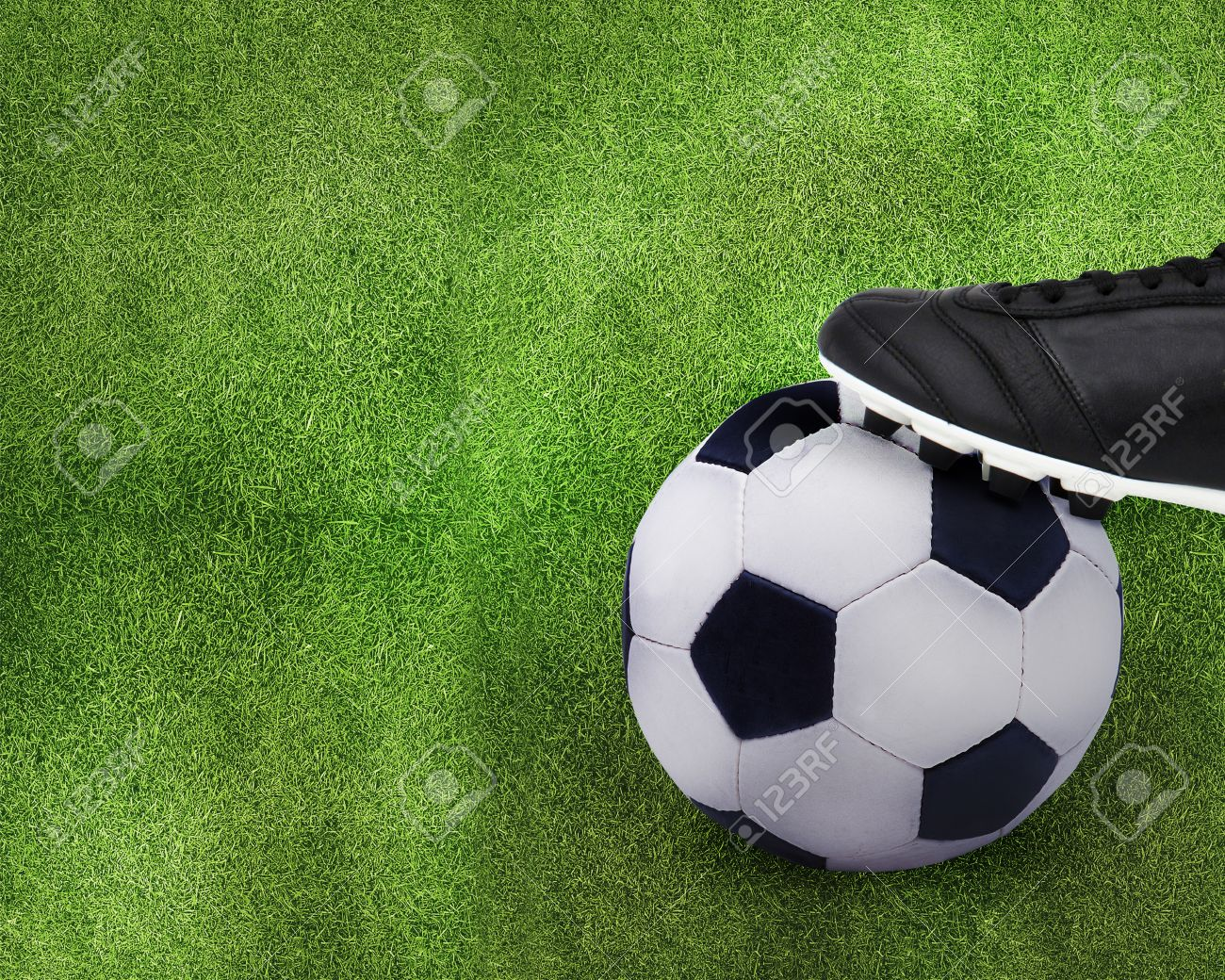 Football sport, kid playing soccerand holding soccer ball. Stock Photo - 11663826