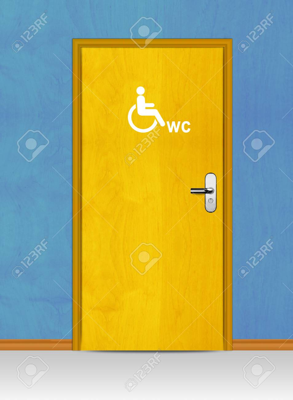 Sign of public toilets WC on wooden door Stock Photo - 13299297