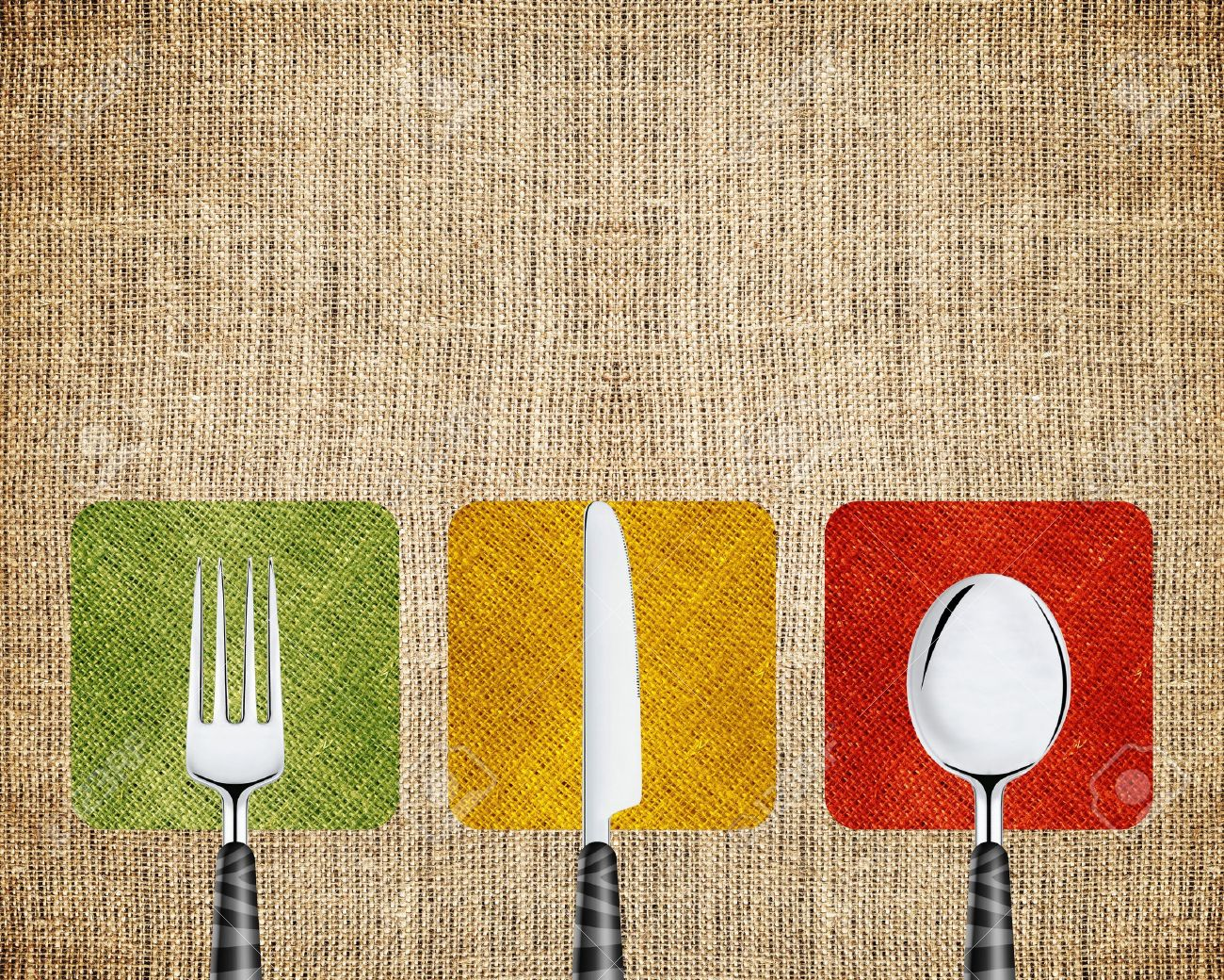 Restaurant menu cover design with knife, spoon and fork. Stock Photo - 13605347