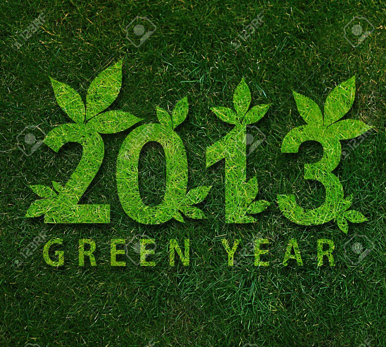 Happy new year 2013, ecology conceptual image for 2013 year. Stock Photo - 15551317
